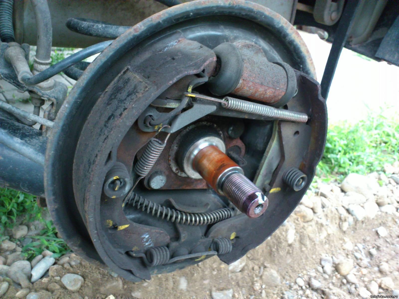 Фото ремонта задних колодок daewoo lanos 6